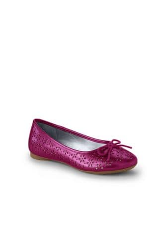 Girls Perforated Ballet Shoes from Lands' End $4.50 + FS over $50
