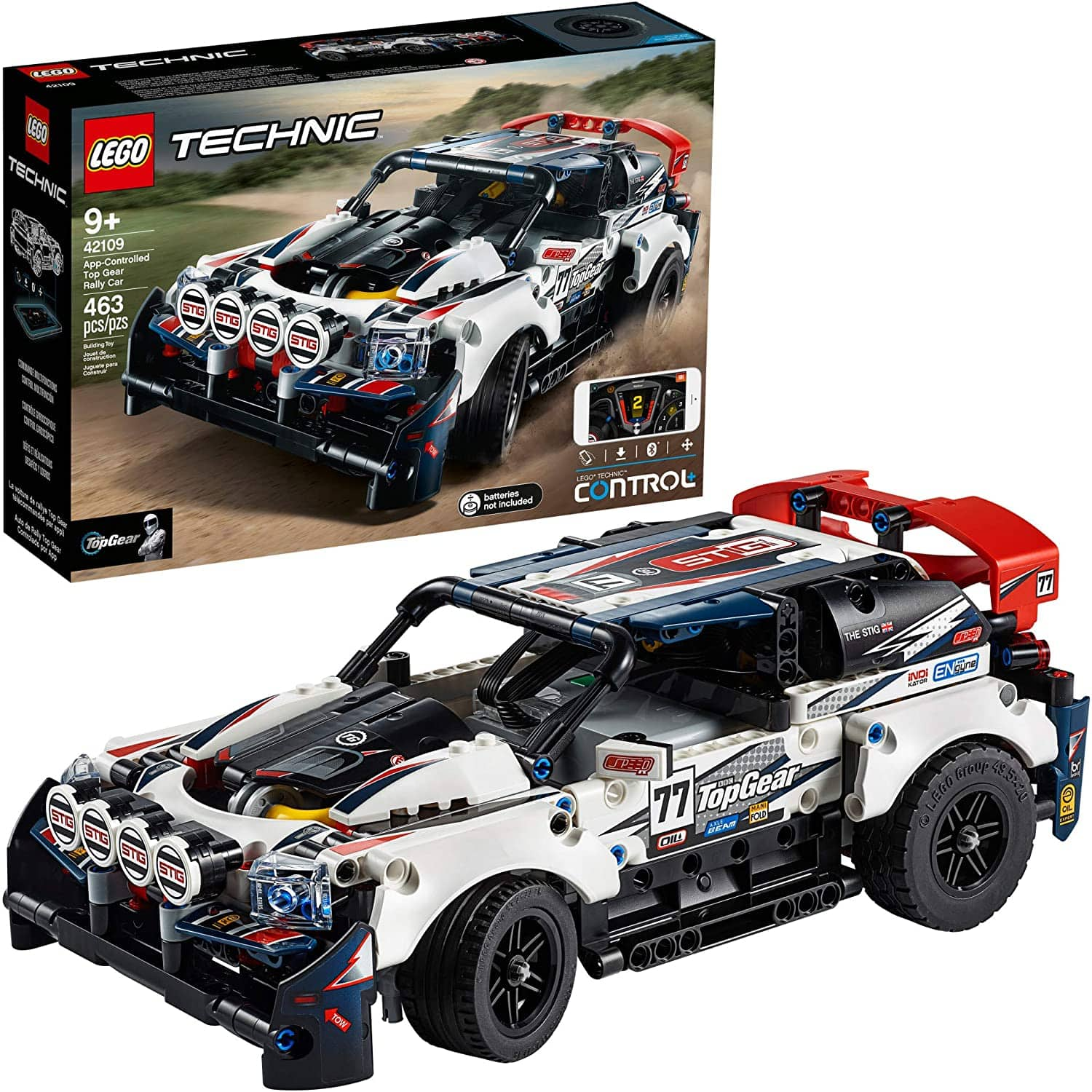 LEGO Technic App-Controlled Top Gear Rally Car 42109 Racing Toy Building Kit, New 2020 $104.99