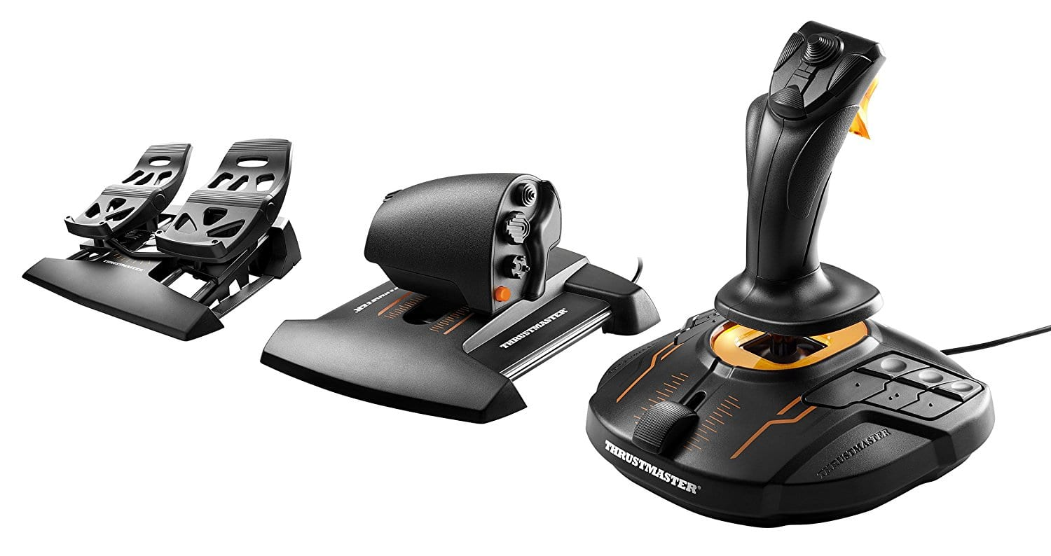 Thrustmaster T16000M FCS Flight Pack $129.89 + Prime Free Shipping