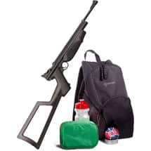 Crosman Doomsday Bug-Out Survival Kit with .22 Air Rifle and accessories only $69