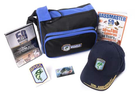 Bassmaster Membership only $12 - includes 50th Anniversary Cap, DVD, Tackle Bag and more