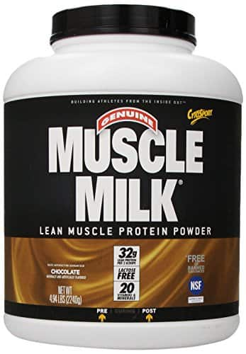 CytoSport Muscle Milk Lean Muscle Protein Powder, Chocolate, 4.94 Pound, $14 plus free shipping