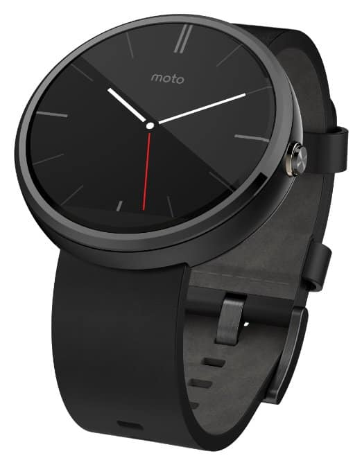 Refurbished Motorola Moto 360 Smartwatch 1st Gen (Black/Leather) $86 Shipped