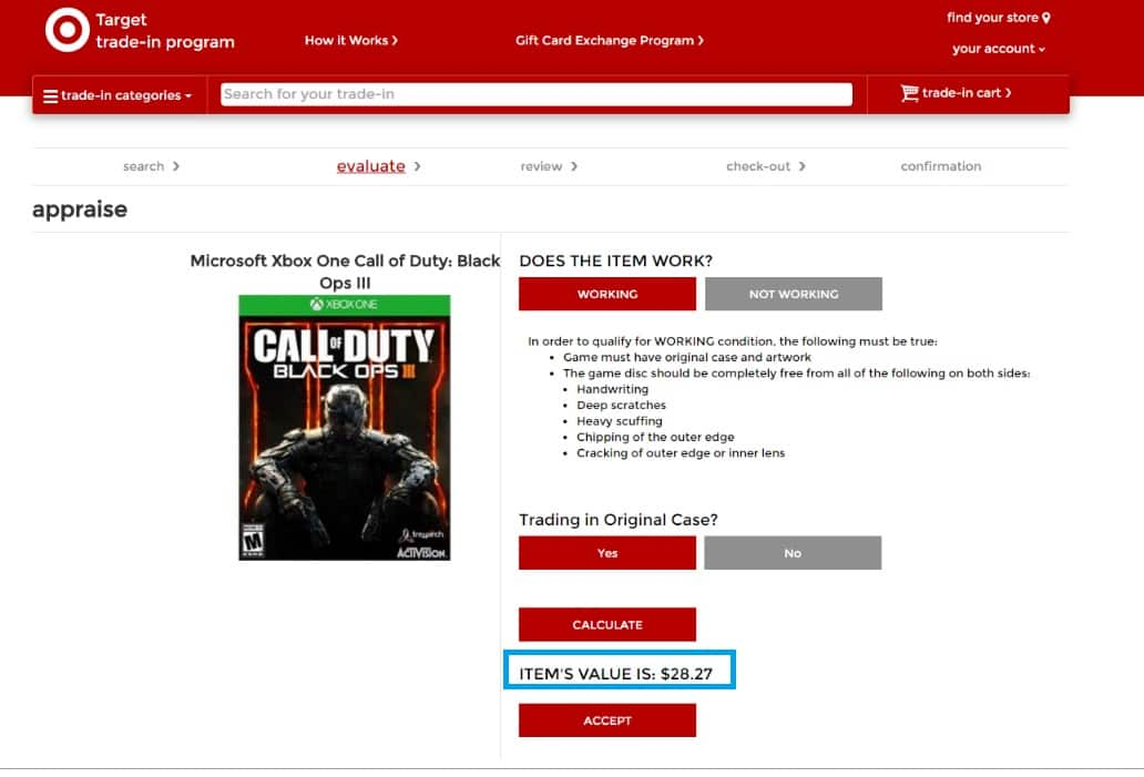 Call of Duty Black Ops 3 III Xbox One Trade in Value $28.27 at Target Trade In Program
