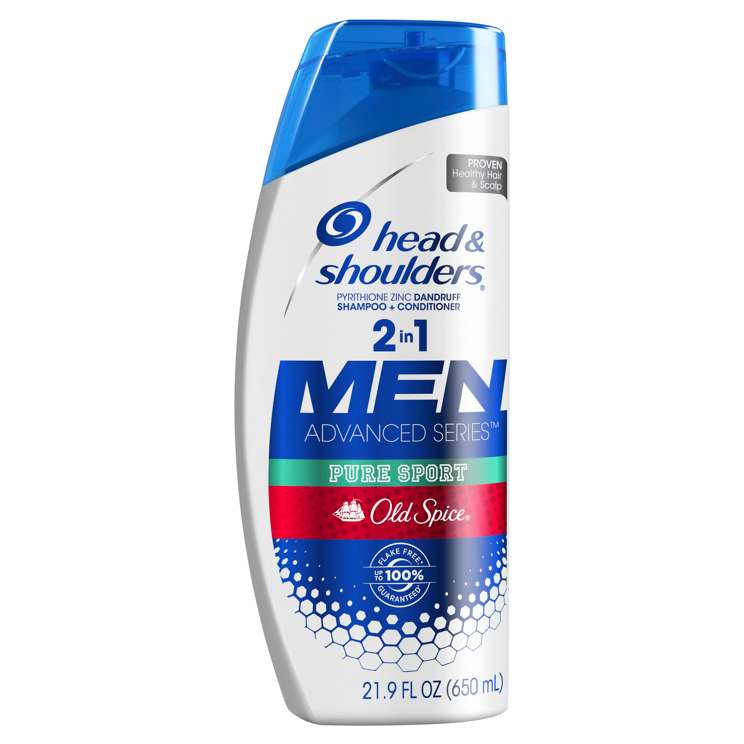 21.9 oz Head and Shoulders Old Spice Swagger or Pure Sport 2 in 1 Dandruff Shampoo & Conditioner - Free store pickup at Walmart $5.47