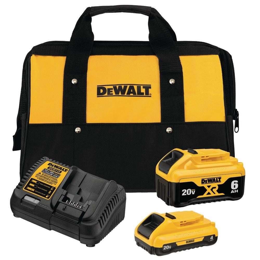DEWALT 20-Volt MAX Lithium-Ion Starter Kit-DCB246CK