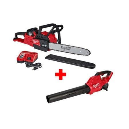 Milwaukee M18 Fuel Chainsaw/12.0 Ah Battery/Rapid charger + Blower $449