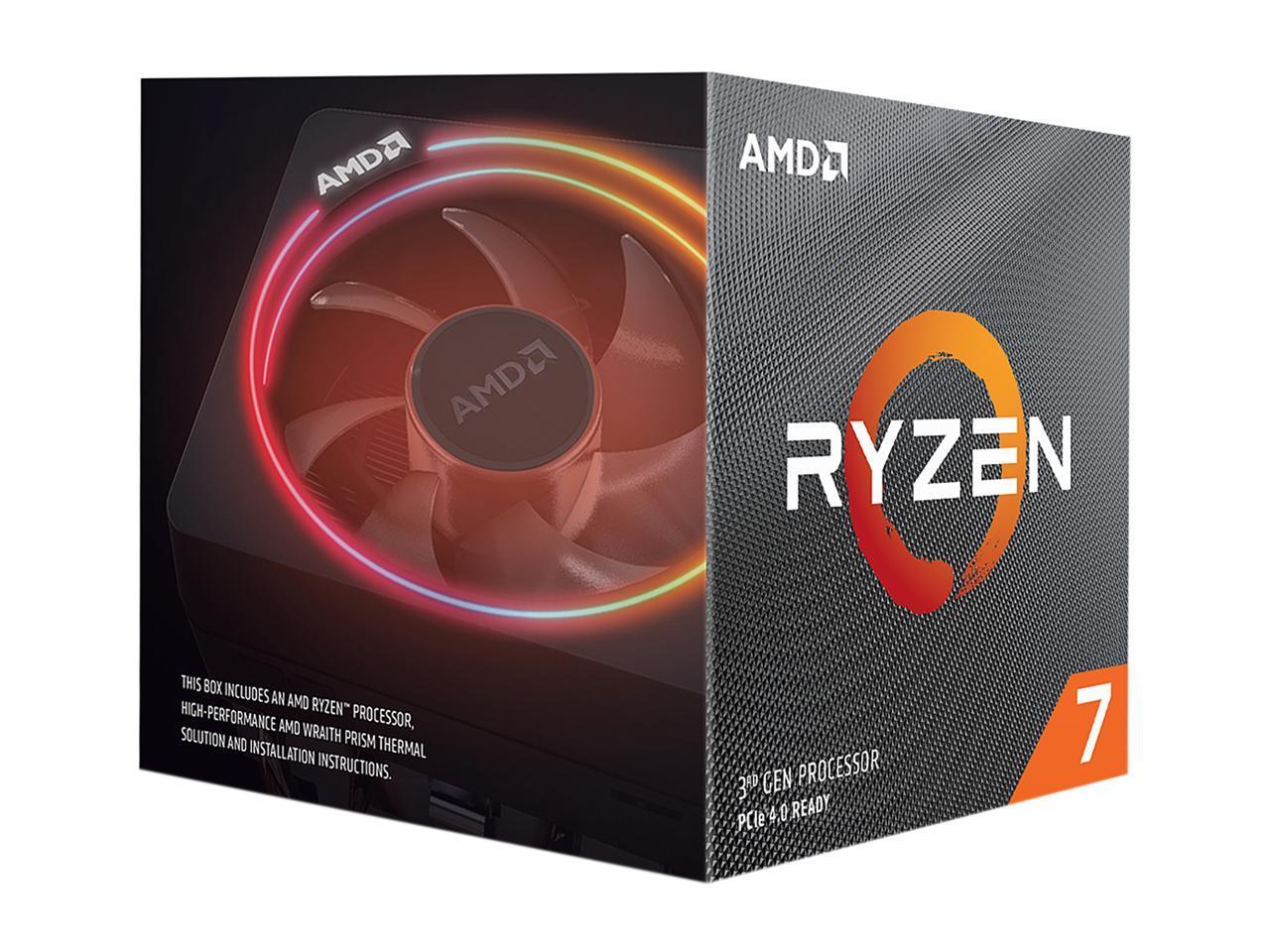 AMD RYZEN 7 3700X 8-Core 3.6 GHz (4.4 GHz Max Boost) 65W Desktop Processor $264.99