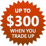 """Trade in any laptop that is less than 6 years old with a 11.3""""+ display for $200(up to $300 for macbooks) with select Microsoft Store laptop $599+ purchase between 10/14 - 10/20"""