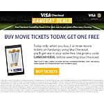 Fandango.com - Get 1 ticket free on purchase of 2 or more tickets using Visa Checkout. Valid only 10/4.