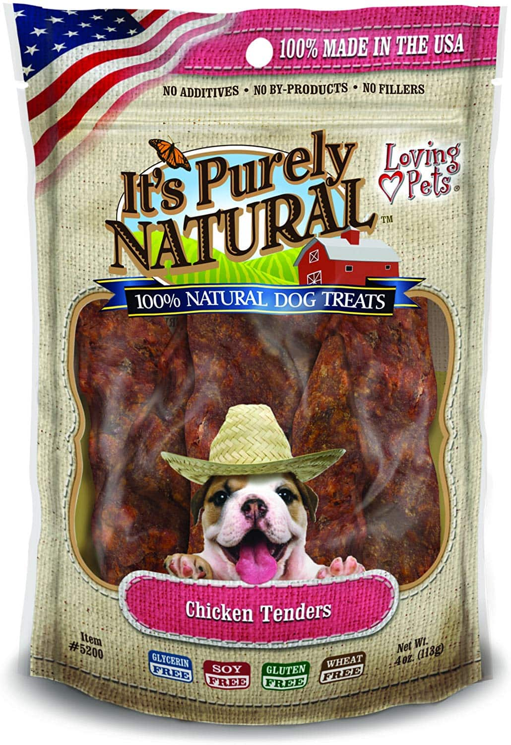 Loving Pets Products It'S Purely Natural Chicken Tenders or Beef Jerky Dog Treat, 4-Ounce - $1.80 at Amazon + FS with Prime or less with Subscribe and Save