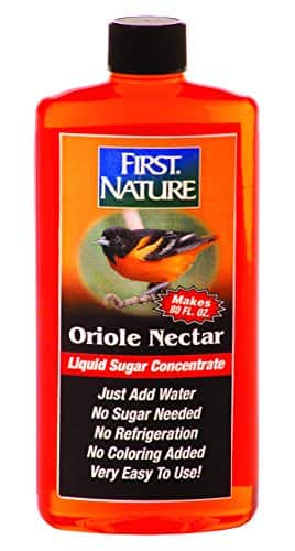 First Nature Oriole Nectar for Hummingbird Nectar 16-oz concentrate (makes 80-oz) - $1.81 - after Subscribe and Save at Amazon