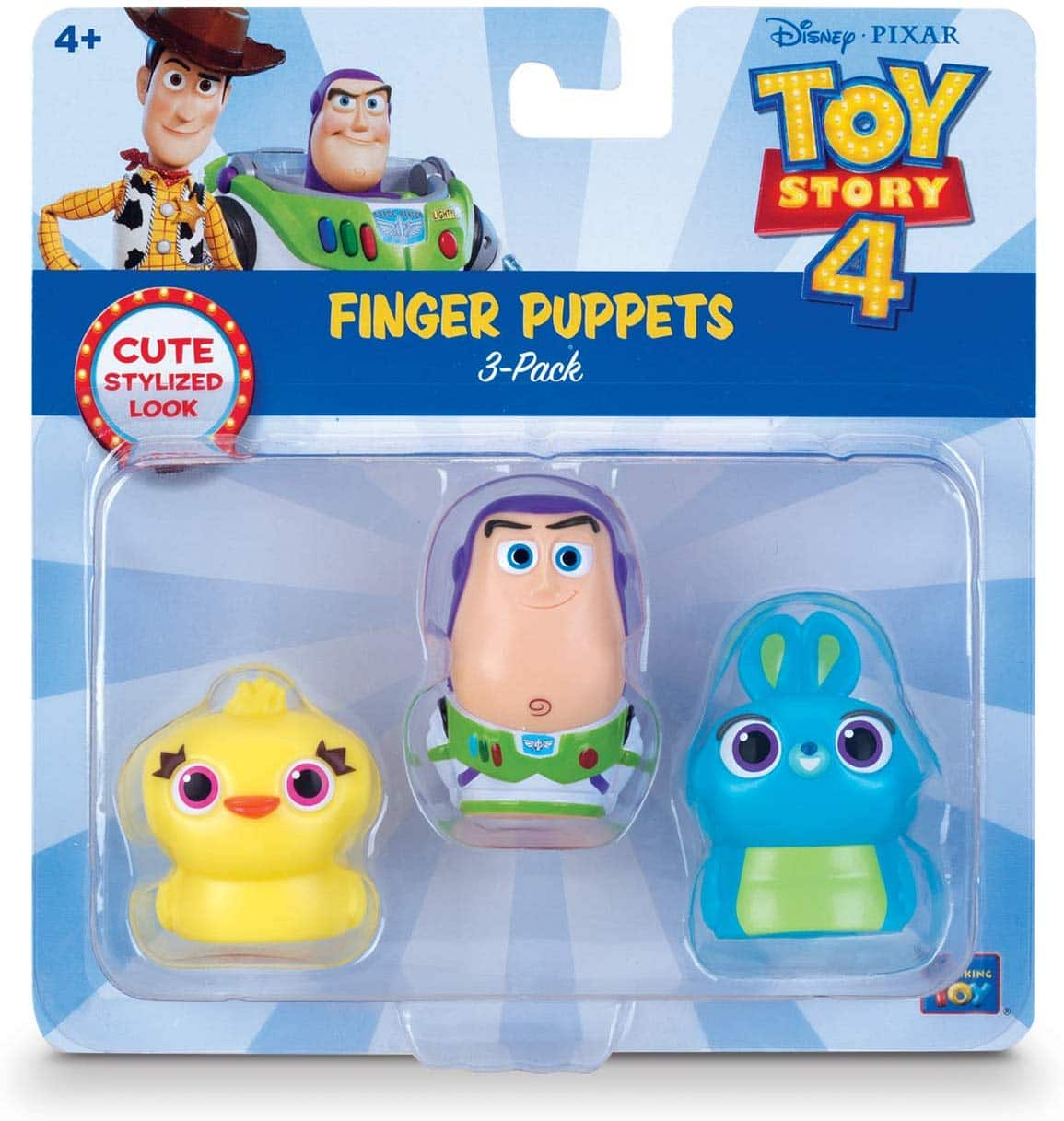 Toy Story Disney Pixar 4 Finger Puppets - 3 Pack - Buzz Lightyear, Bunny, Ducky - $5.07 + FS at Amazon