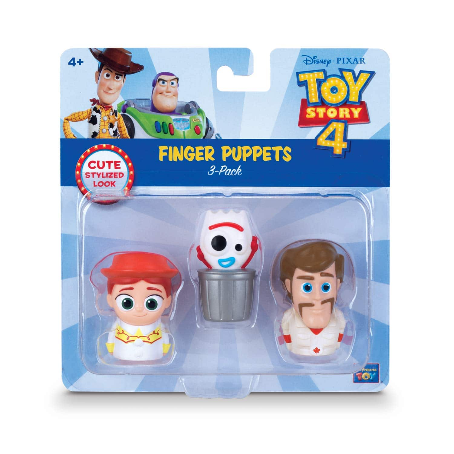 Toy Story 4 -Finger Puppets - 3 Pack - Jessie, Forky, Duke CaboomToy Story Disney Pixar 4 Finger Puppets - 3 Pack - Jessie, Forky, Duke Caboom - $4.73 at Amazon