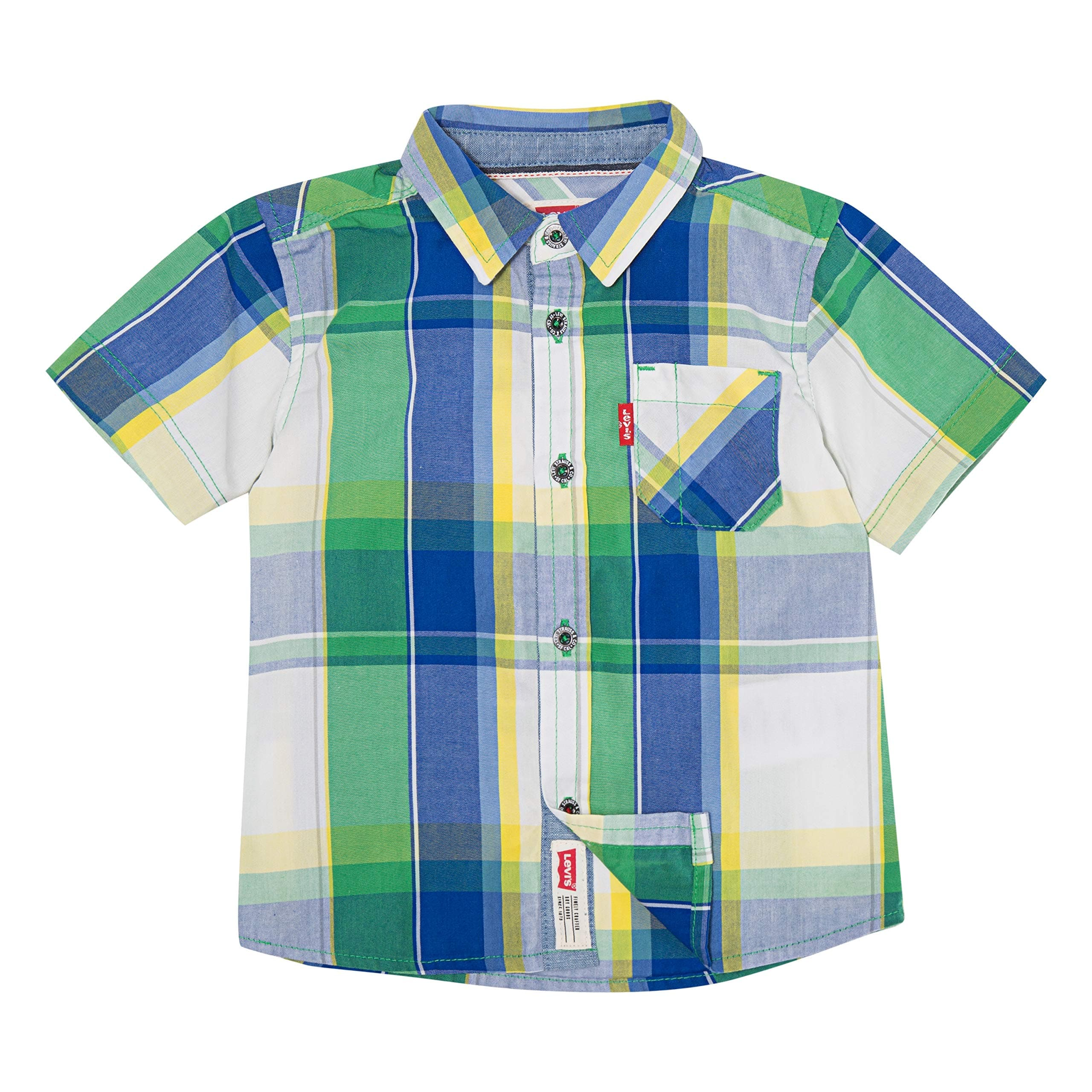 Levi's Boys' Short Sleeve Button Up Shirt, Size 18 months, Color Greenbrier - $3.91 at Amazon