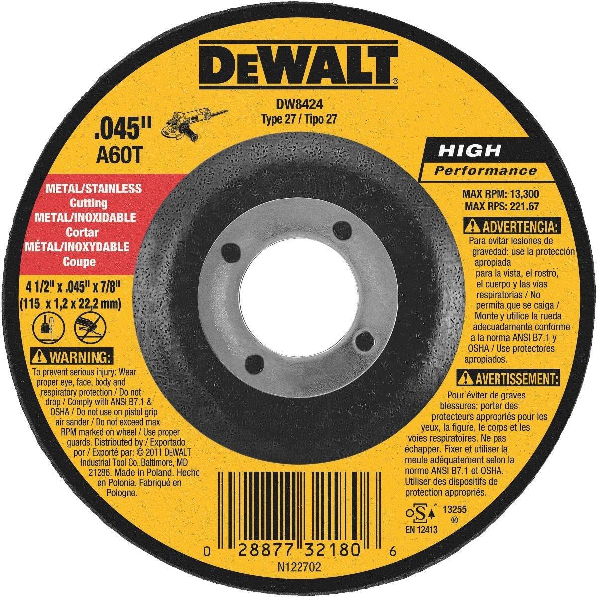 DEWALT DW8424 Thin Cutting Wheel - $1.55 at Amazon
