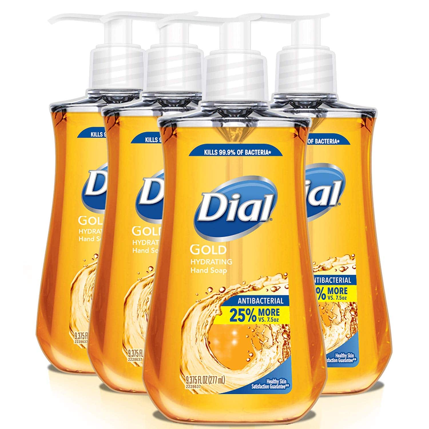 Dial Antibacterial Liquid Hand Soap, Gold, 9-oz (Count of 4) - $4.22 at Amazon with subscribe and save