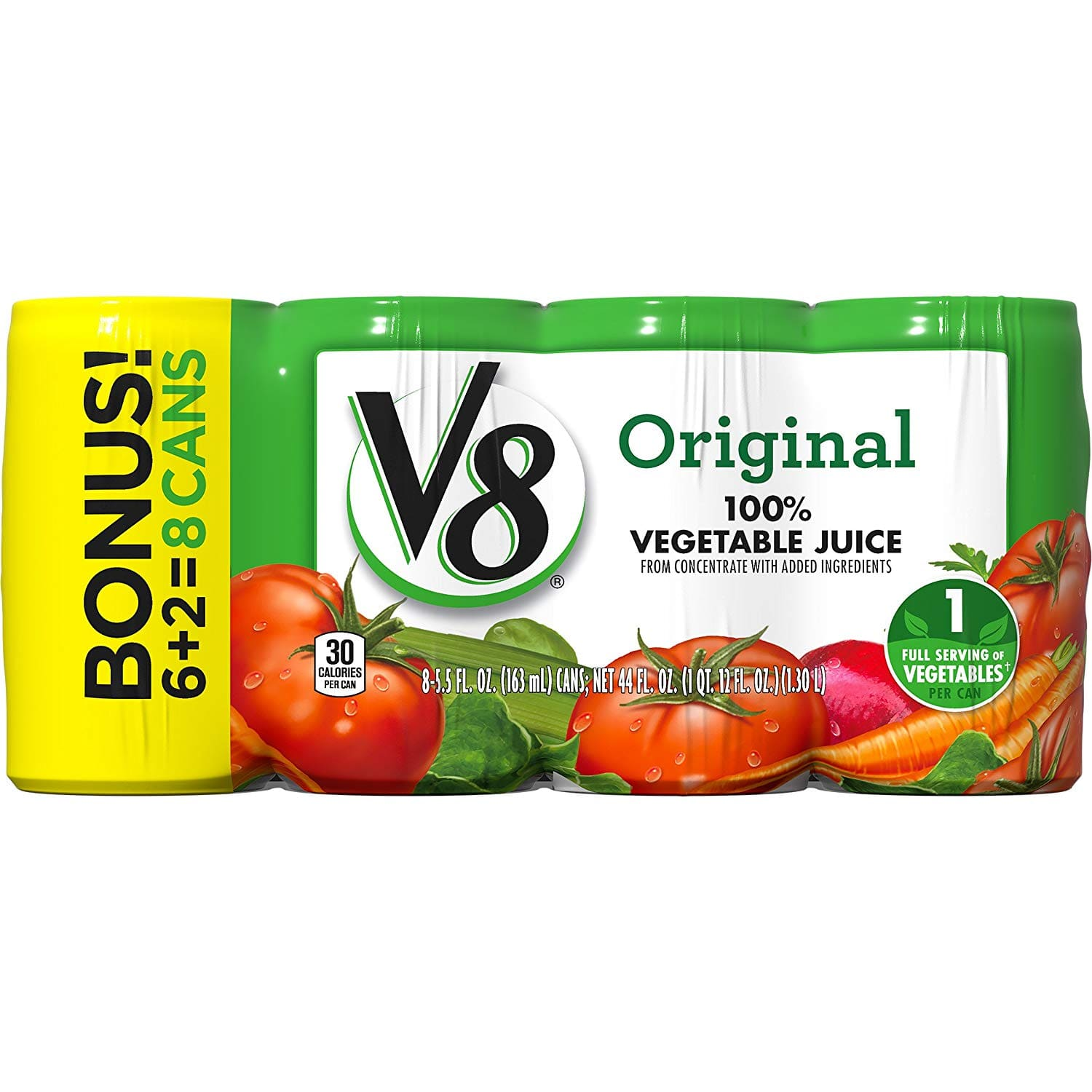 V8 Original 100% Vegetable Juice, 5.5 oz. Can, 8 Count - $4.30 at Amazon