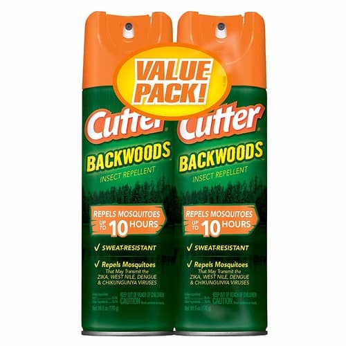Cutter Backwoods Insect Repellent, Aerosol, 6-Ounce Pack of 2 - $4.37 at Amazon with subscribe and save