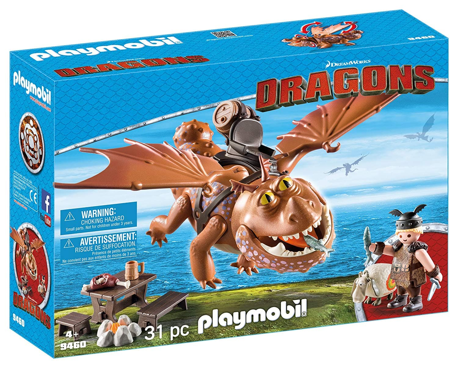 Playmobil 9460 How to Train Your Dragon Fishlegs  Meatlug, Multicolor - $14.85 at Amazon