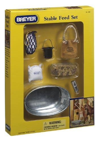 Breyer Traditional Stable Feeding Accessory Toy Set (1:9 Scale) - $5.54 at Amazon