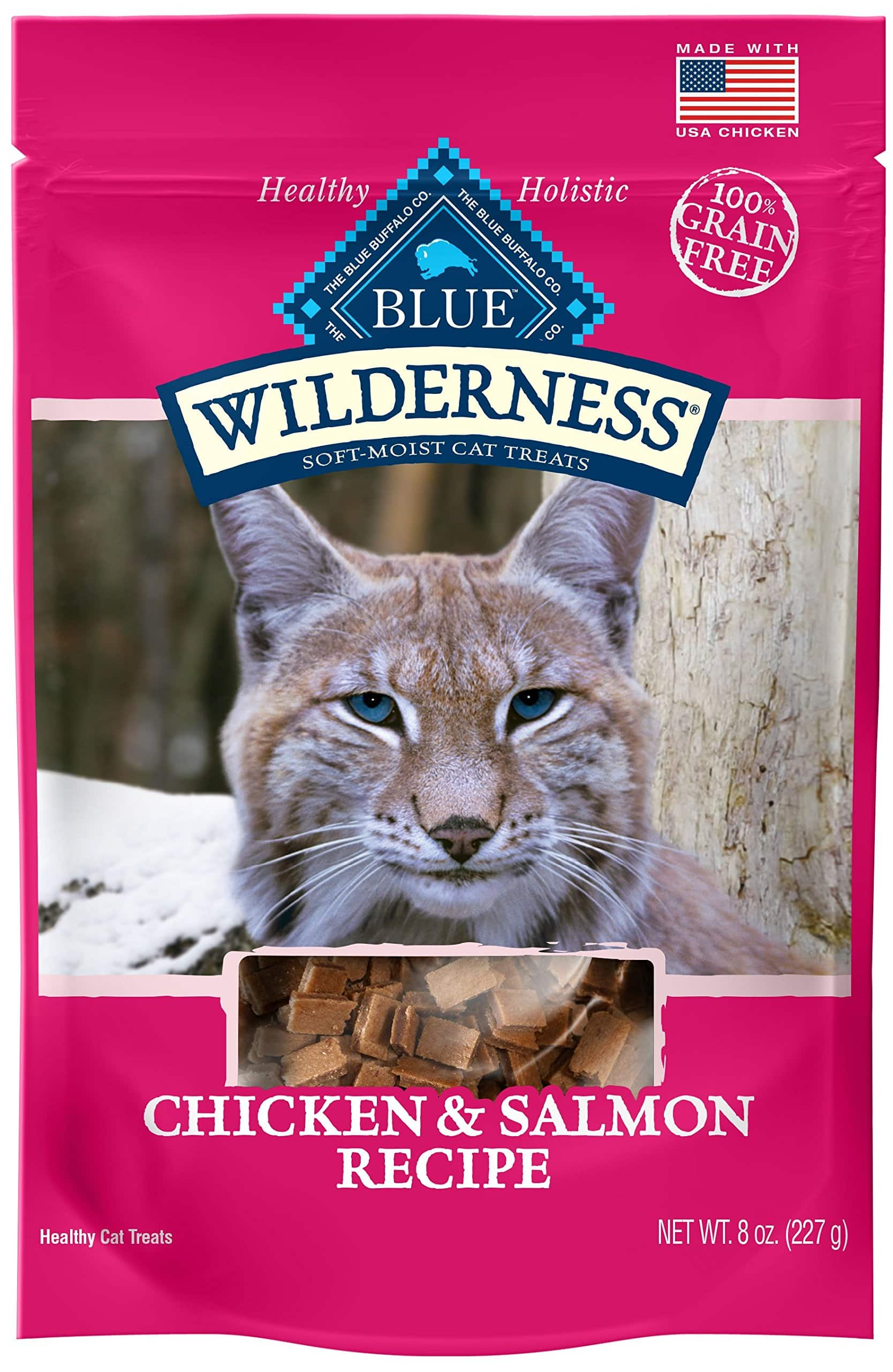 Blue Buffalo Wilderness Chicken and Salmon Grain Free Cat Treats -- 8 ounces -- $3.56 at Amazon + free shipping with prime with subscribe and save