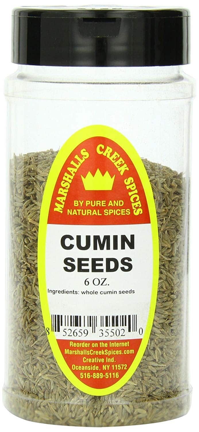 Marshall's Creek Spices Cumin Seed, 6 Ounce (Pack of 12) - $13.45 at Amazon + FS with Prime (or less with subscribe and save)