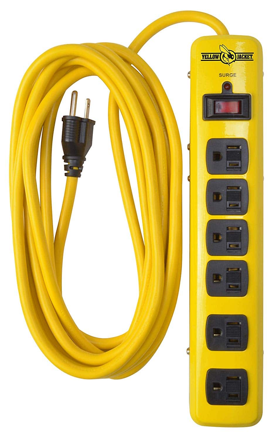 Yellow Jacket 5138N 5138 Metal Surge Protector Strip with 6 Outlets and 15 Foot Cord - $10.95 at Amazon + FS with Prime