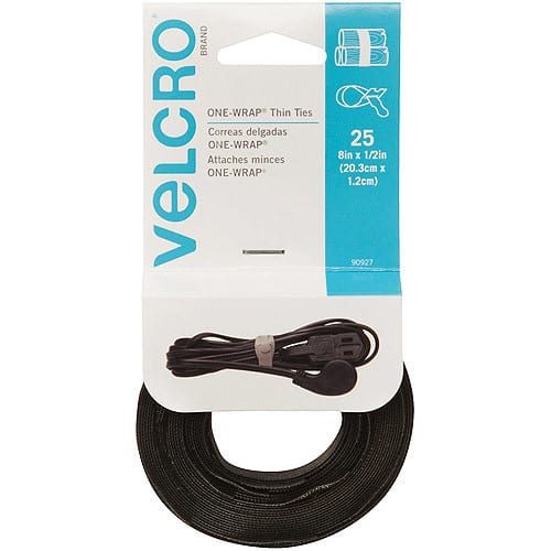 """25-Count Velcro Brand 8"""" Cable Ties - $2.06 at Amazon + FS with Prime"""