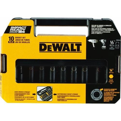 DEWALT DW22812 1/2-Inch 10-Piece IMPACT READY Socket Set (SAE) - $22.82 at Amazon + FS with Prime