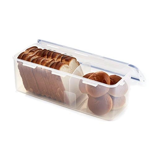 LOCK & LOCK Airtight Rectangular Food Storage Container with Divider, Bread Box - $9.43 at Amazon + FS with Prime