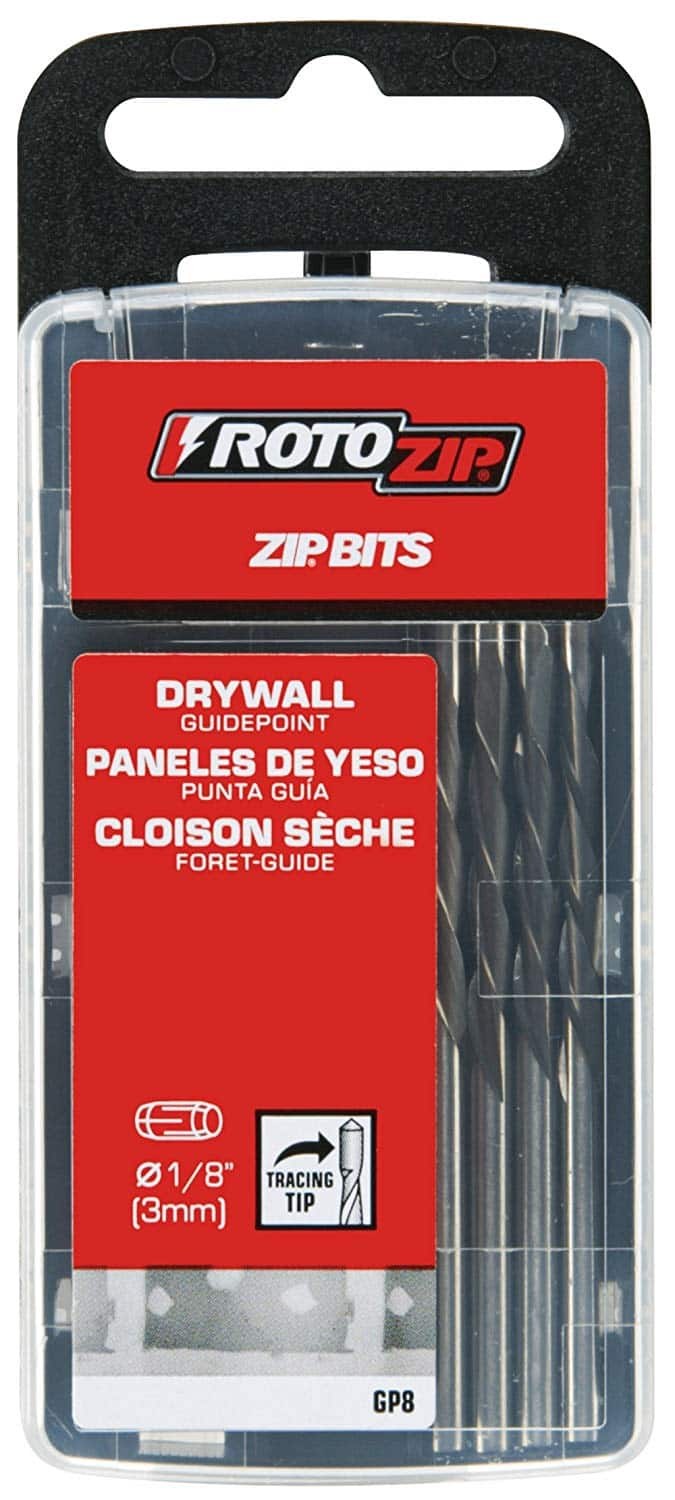 8-pack RotoZip Drywall Cutting Zip Bit for $3.99 + FS with Prime (and other bits from Makita and Dewalt)