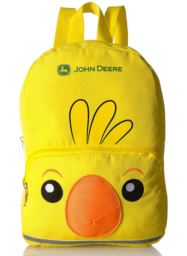 John Deere Kids Toddler Backpack, Yellow  - $7.04 AC at Amazon