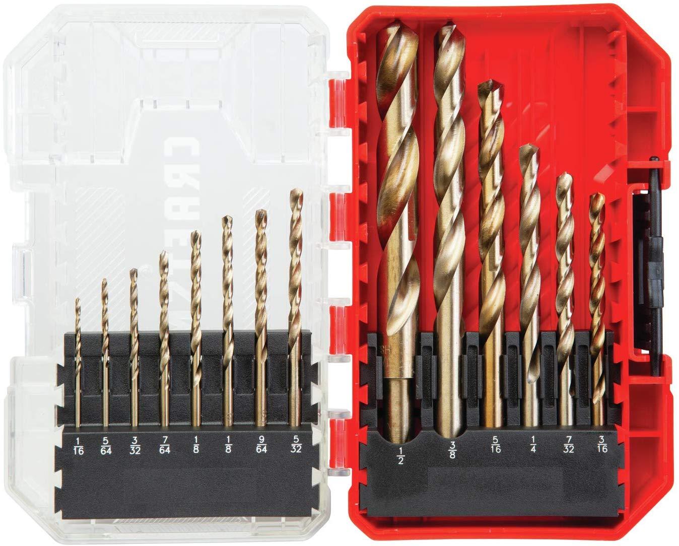 CRAFTSMAN Drill Bit Set, Gold Oxide, 14-Piece (CMAM2214) - $8.78 at Amazon + FS with Prime