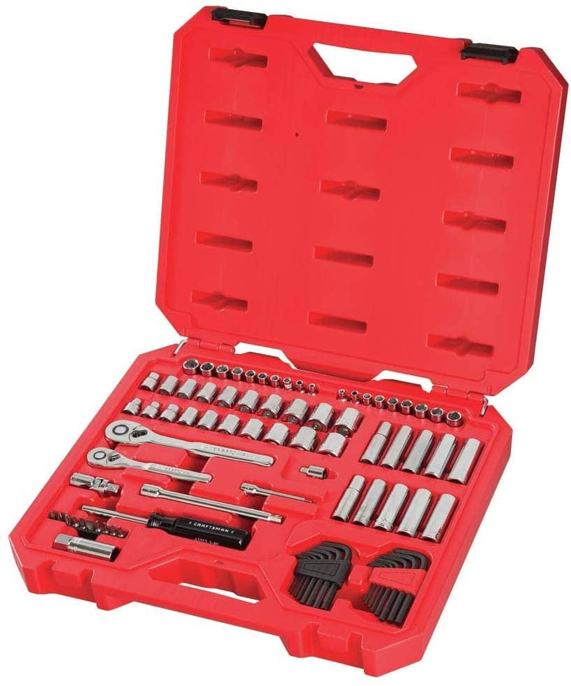 CRAFTSMAN Mechanics Tool Set, SAE / Metric, 1/4-Inch Drive, 83-Piece (CMMT12021) - $59.98 at Amazon + FS with Prime