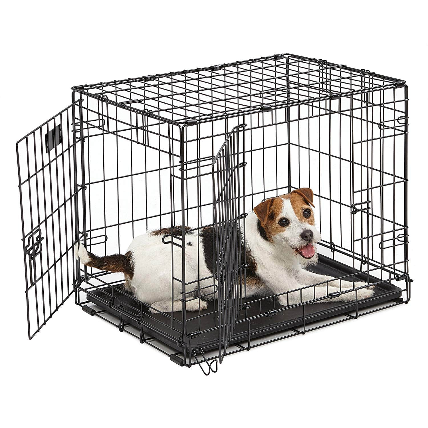 MidWest Homes for Pets Dog Crate 24-in. with divider and double door - $15.38 at Amazon + FS with Prime
