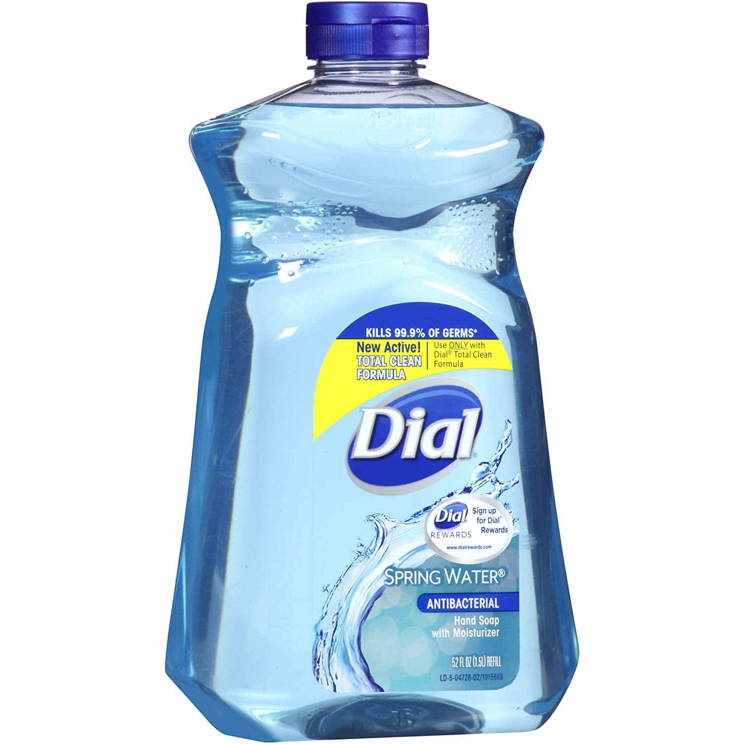 Dial Antibacterial Hand Soap with Moisturizer, Spring Water Scent, 52oz. - $3.97 at Amazon + FS with prime