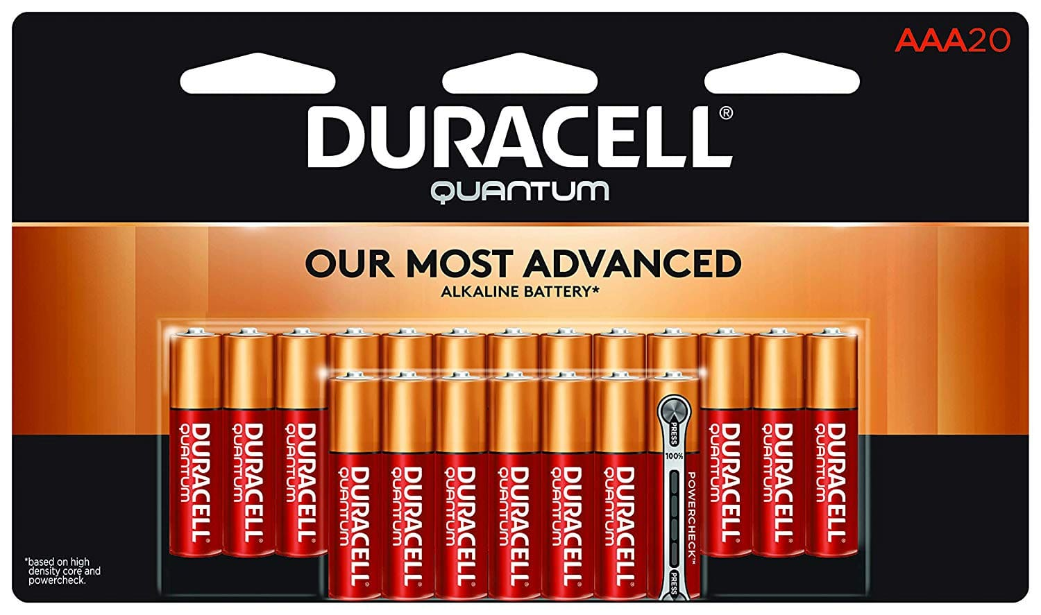 Duracell - Quantum AAA Alkaline Batteries - 20-count - $8.23 AC at Amazon