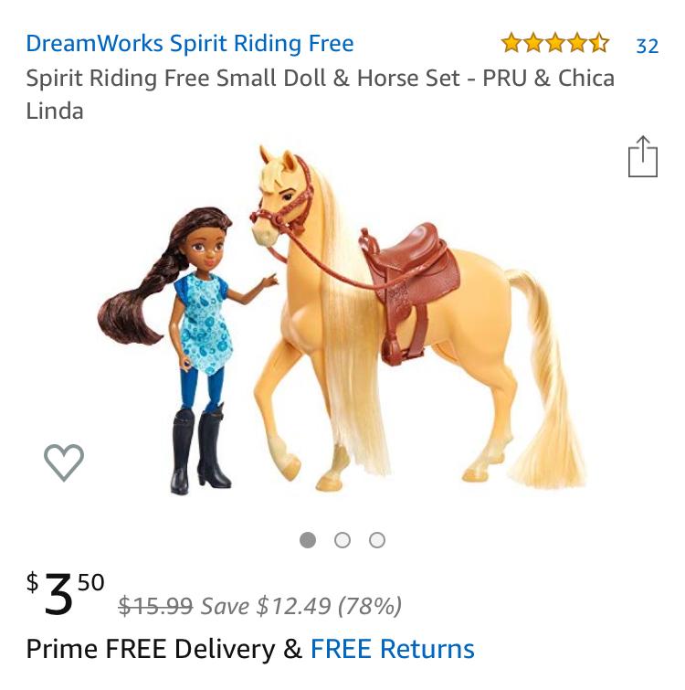 Spirit Riding Free Small Doll & Horse Set - PRU & Chica Linda $3.50 at Amazon