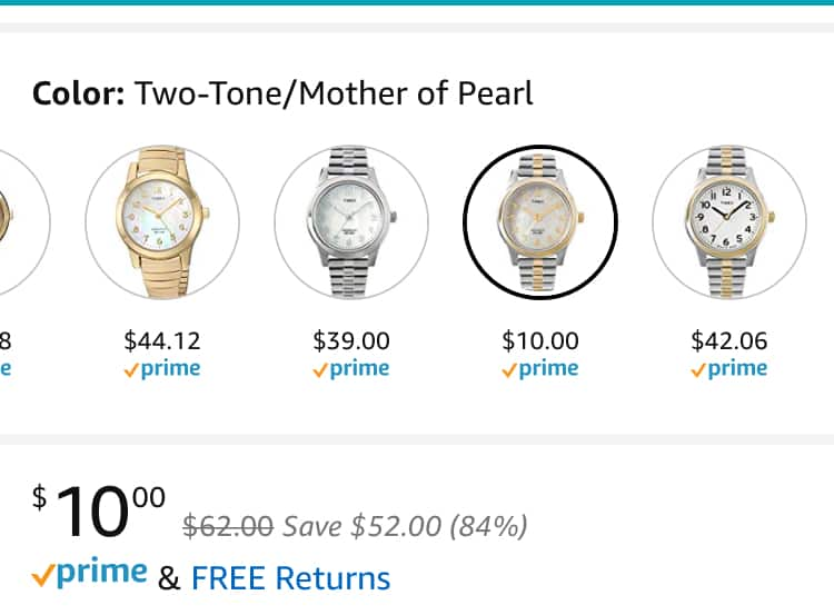Timex Women's Essex Avenue Stainless Steel Watch - $10 (down from $39) at Amazon