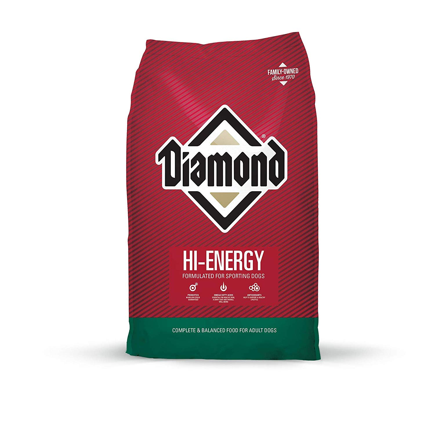 Diamond Premium Recipe Hi-Energy Complete And Balanced Dry Dog Food For Sport Dog, 50Lb - $32.99 at Amazon + FS with Prime