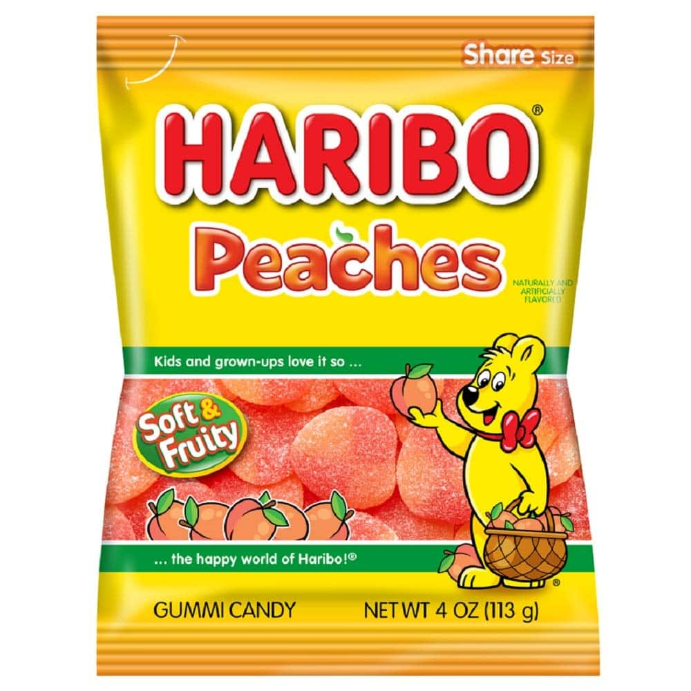 Haribo Gummi Candy, Peaches, 4 ounce (Pack of 12) - $9.50 at Amazon + FS with Prime or less with subscribe and save