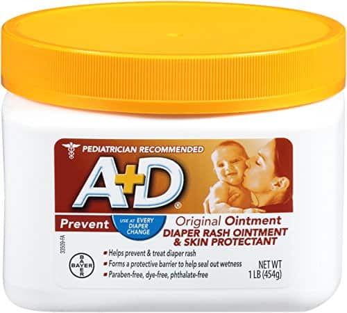AD Original Diaper Rash Skin Protectant Ointment w/ Lanolin and Petrolatum, 16 Oz  - $6.32 AC and Subscribe and Save at Amazon