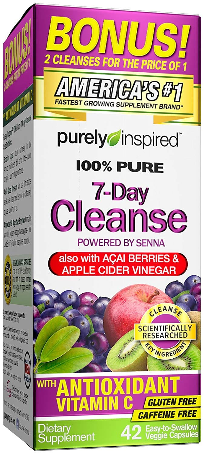 Purely Inspired Organic 7-Day Cleanse, 42 Count - $4.99 AC and Subscribe and save at Amazon