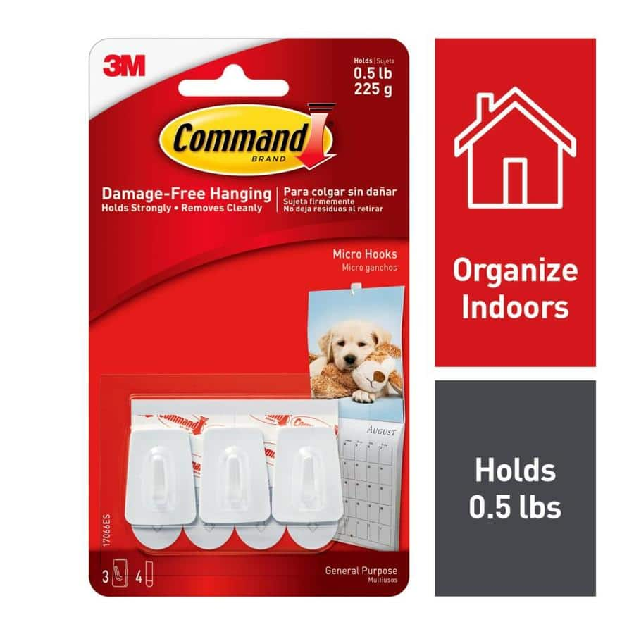 Command 3-Pack White Adhesive Hook at Lowes - $0.59 - All states except UT, WY, VT, NE, NV, MN, HI, IA, AK