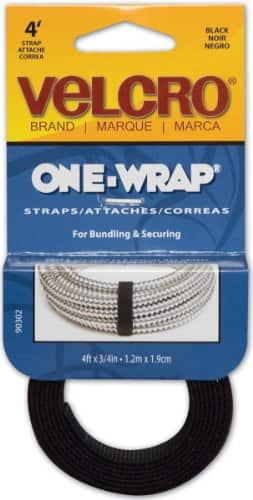 VELCRO 90302 One-Wrap Straps, 4-Feet by 3/4-Inch, Black- $1.99 at Amazon + FS with Prime