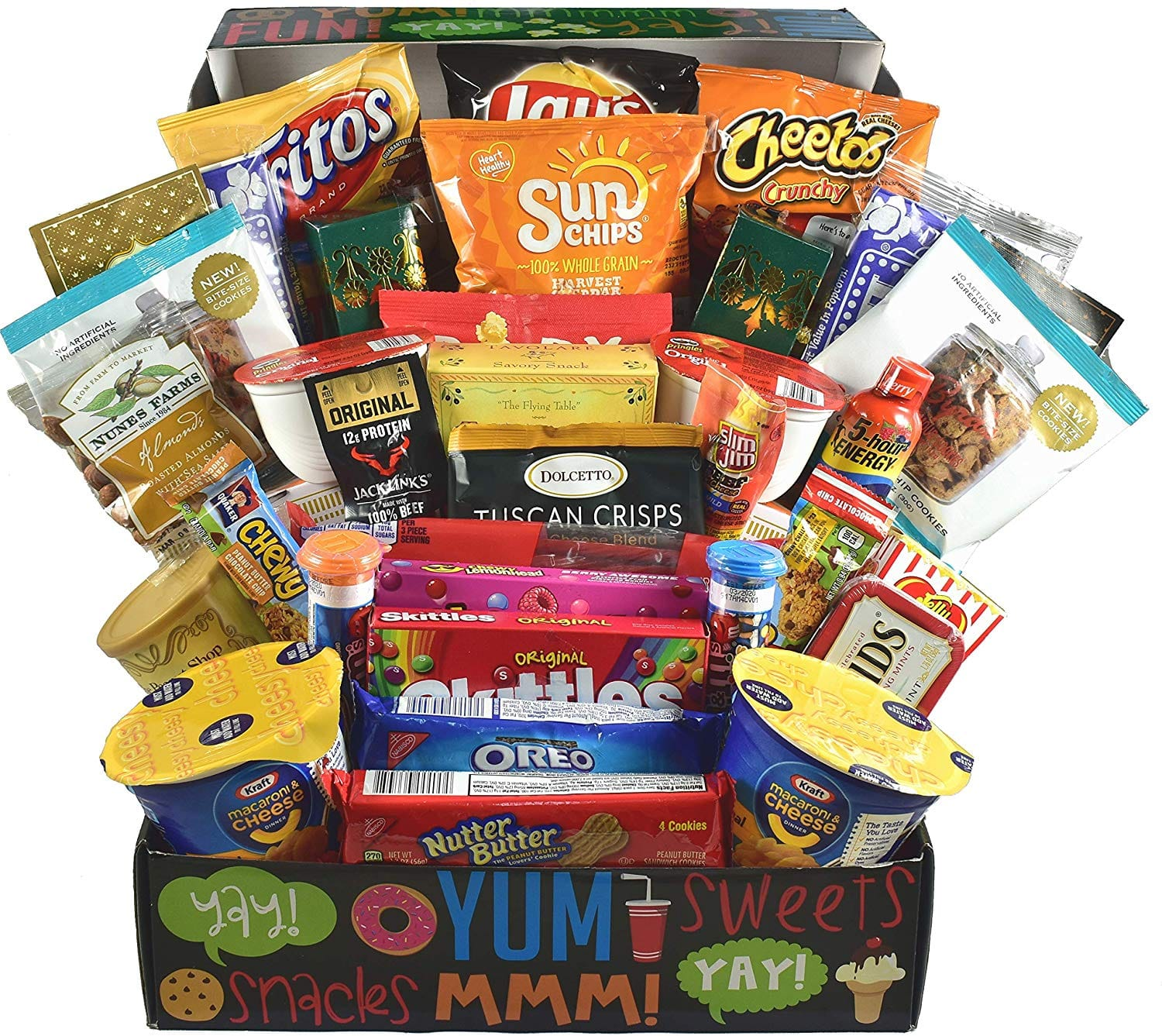 College Care Package - Loaded with Chips, Candy, Microwave Foods, Treats and More, 6 Pounds- $29.50 at Amazon + FS with Prime