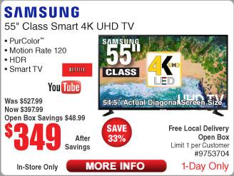 "Samsung UN55NU6900-OB 55"" - $349"