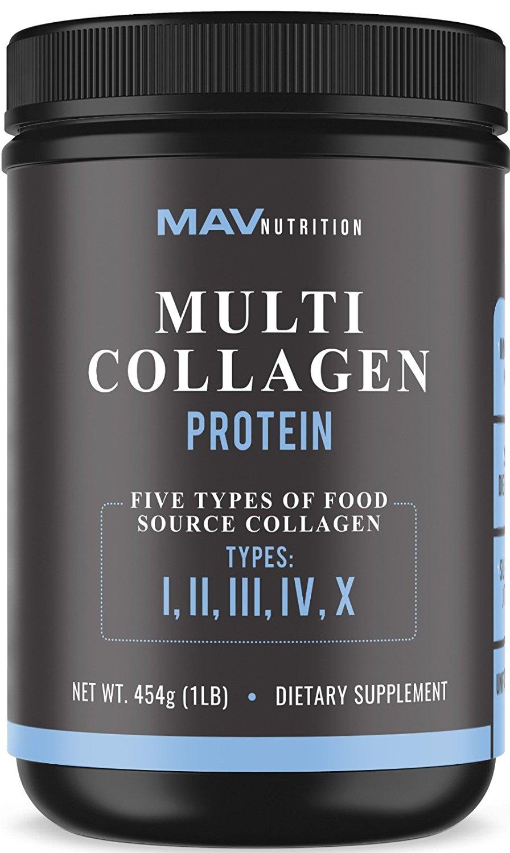 Premium Multi-Collagen Protein Powder Collagen Peptides 1lb $1.99 + FS, Amazon