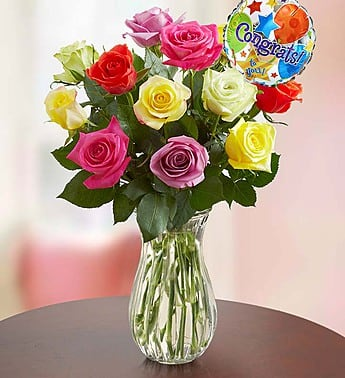 Two Dozen Assorted Roses $39.99 or less + Free Delivery with Shoprunner, plus others